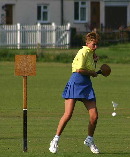 An Angmering player batting her way to victory